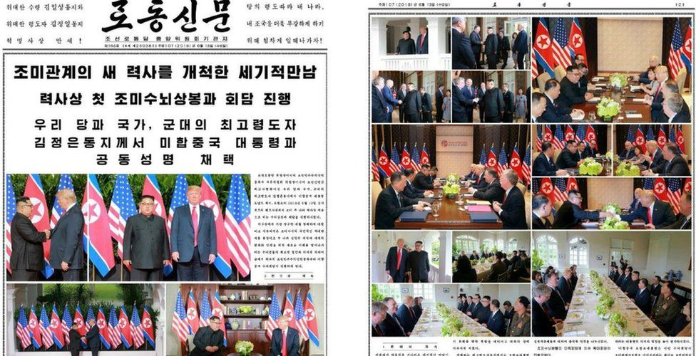 Rodong Sinmun front page