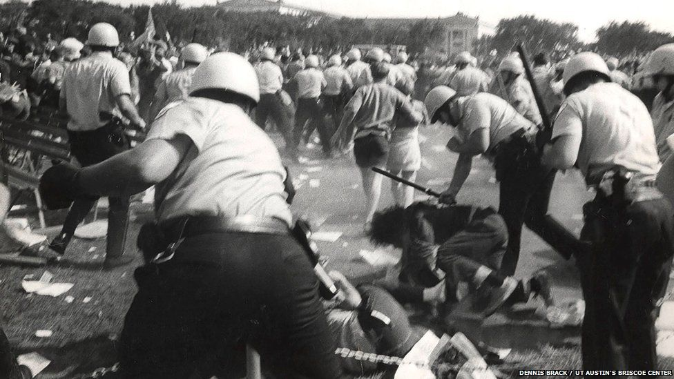 Violence at convention protests