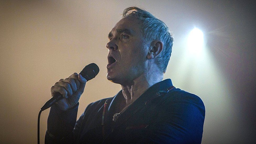 Morrissey on stage