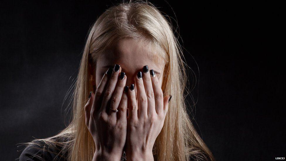 Distressed woman