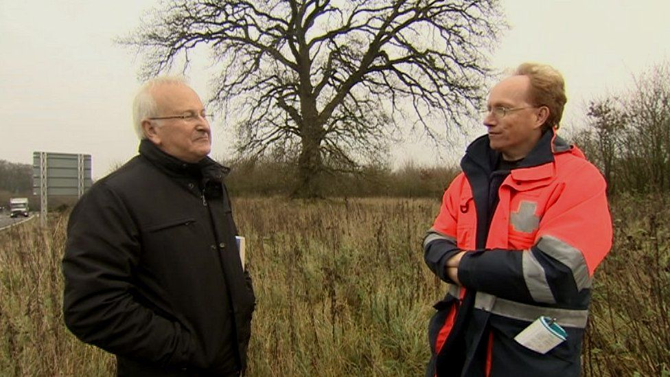 Former Under Sheriff of Berkshire, Nicholas Blandy is reunited with bypass protester Phillip Pritchard 20 years on