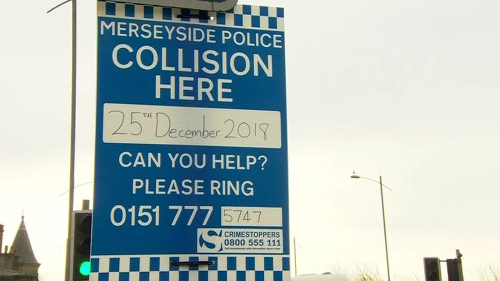 Merseyside Police witness appeal signs