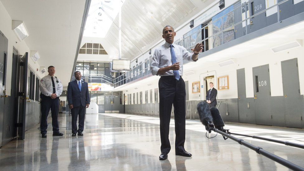 President Obama at a federal prison