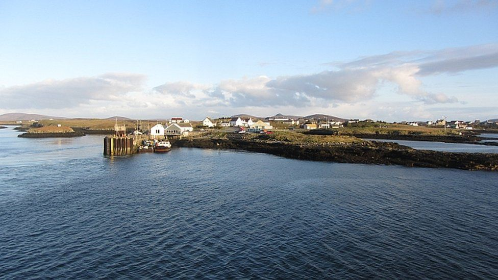 The pier at Lochmaddy