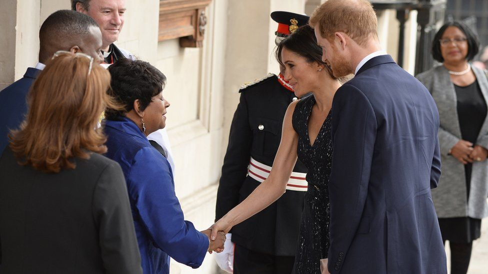 Baroness Lawrence meeting Meghan Markle and Prince Harry