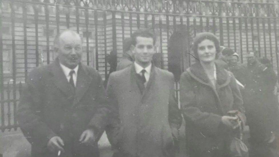 John Coak and his parents