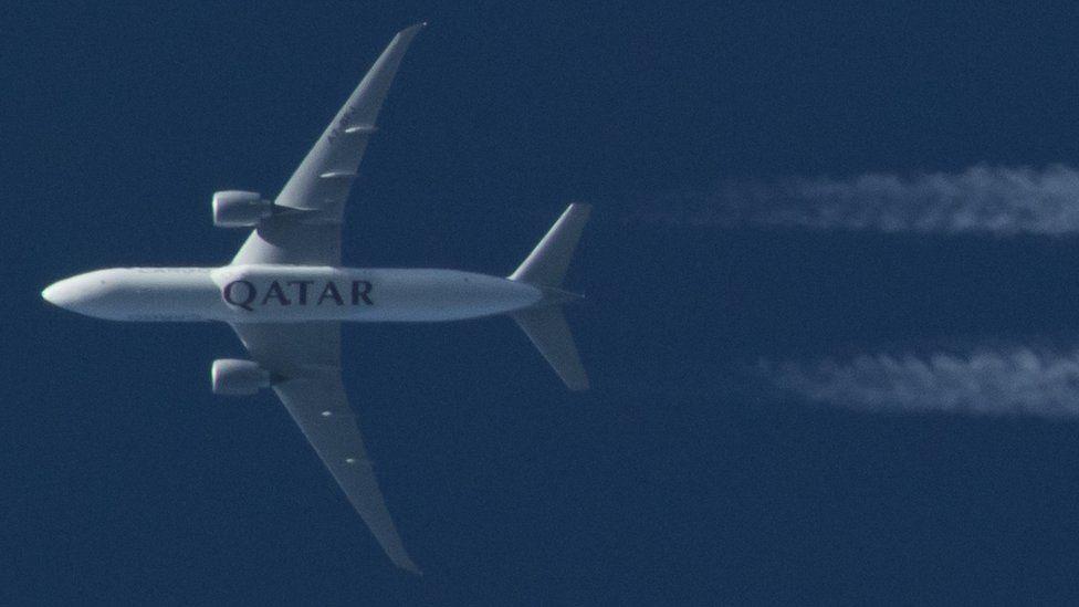 A Qatar Airways plane