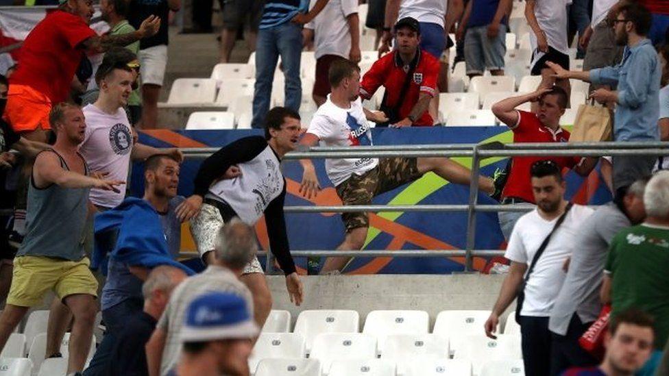 Violence at Russia v England match at Euro 2016