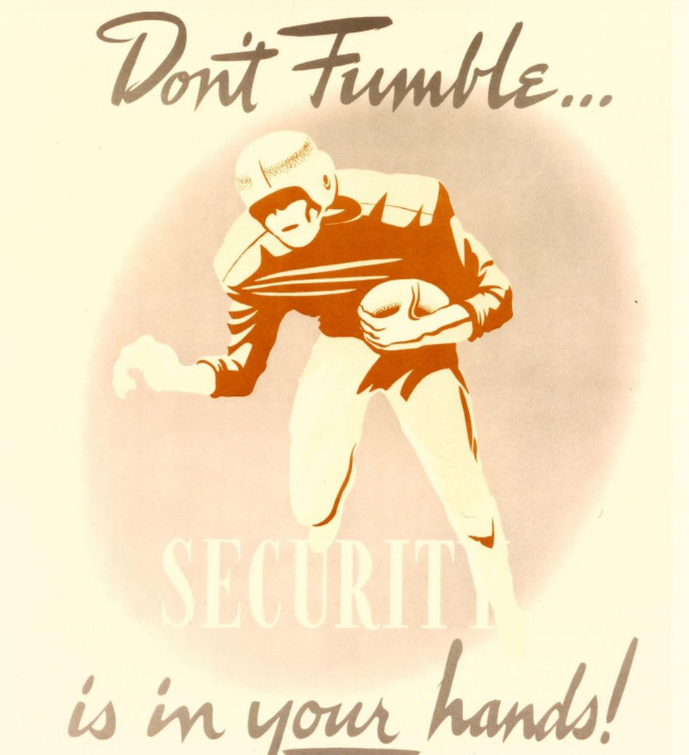 """Don't fumble - security is in your hands"""