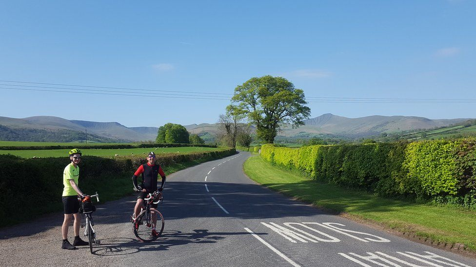 Cyclists in Wales