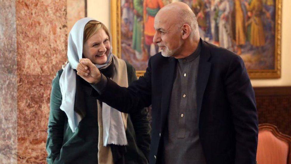 Martha Kearney with Afghan President Ashraf Ghani