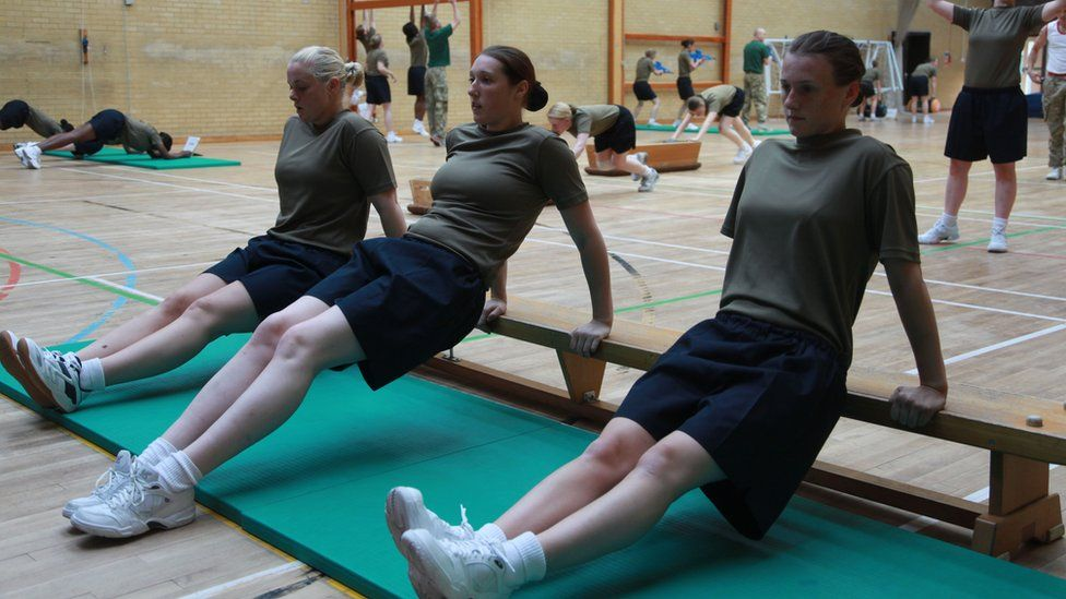Female recruits training
