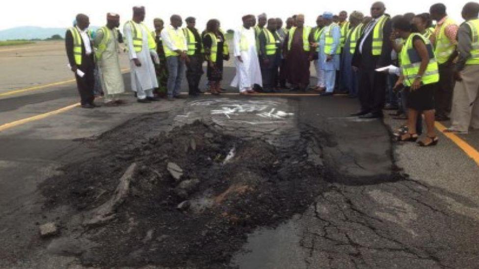 Officials inspect Abuja runway