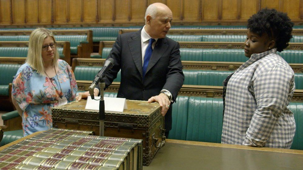Iain Duncan Smith and Chiara and LaTifah in the Commons