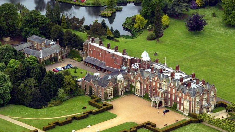 Aerial view of Sandringham Estate