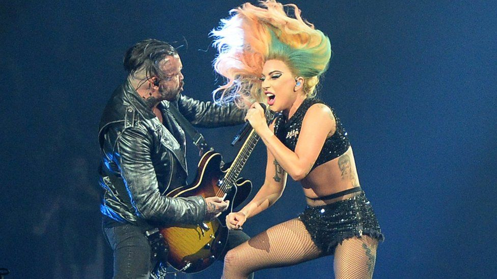 Lady Gaga performs on the Joanne World Tour
