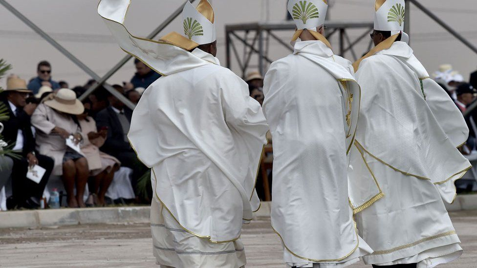 Bishops at the Pope's mass in Madagascar