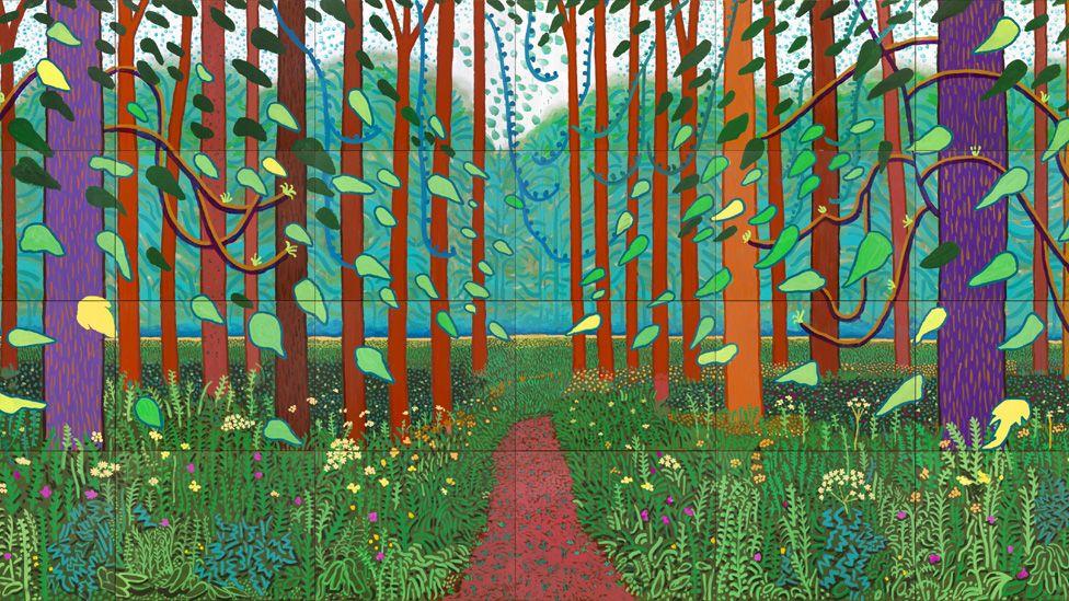 The Arrival of Spring in Woldgate, East Yorkshire in 2011 (twenty eleven) by David Hockney