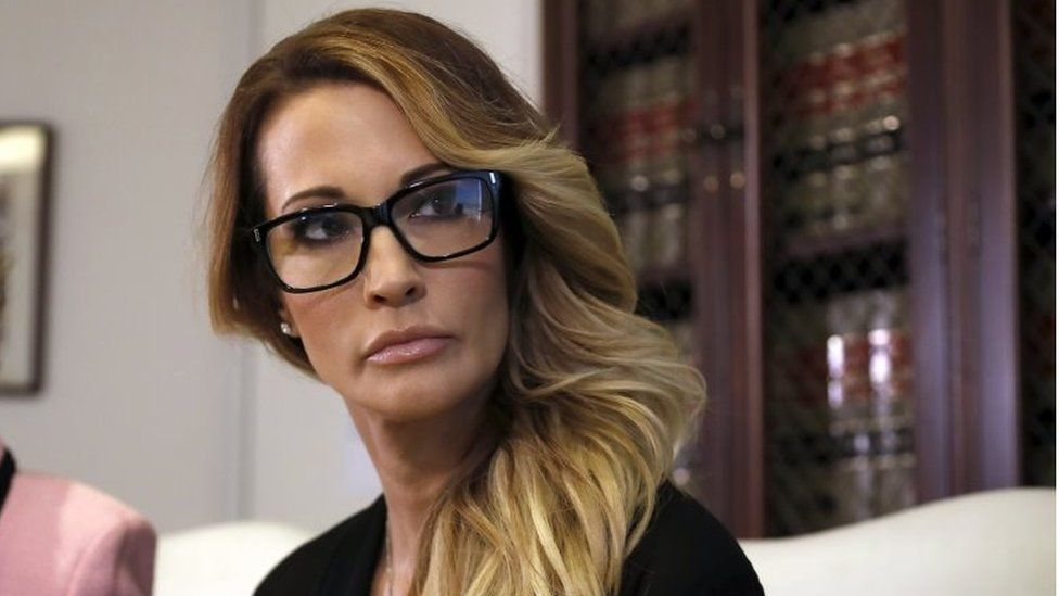 Jessica Drake, who accused Mr Trump of groping her 10 years ago, 22 October 2016