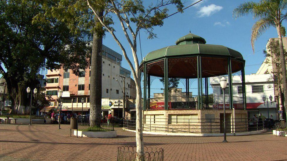 Empty square in Barão de Cocais
