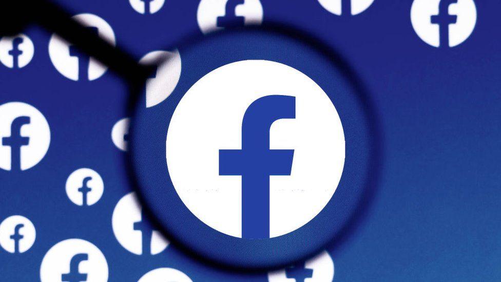 Facebook under the lens illustration