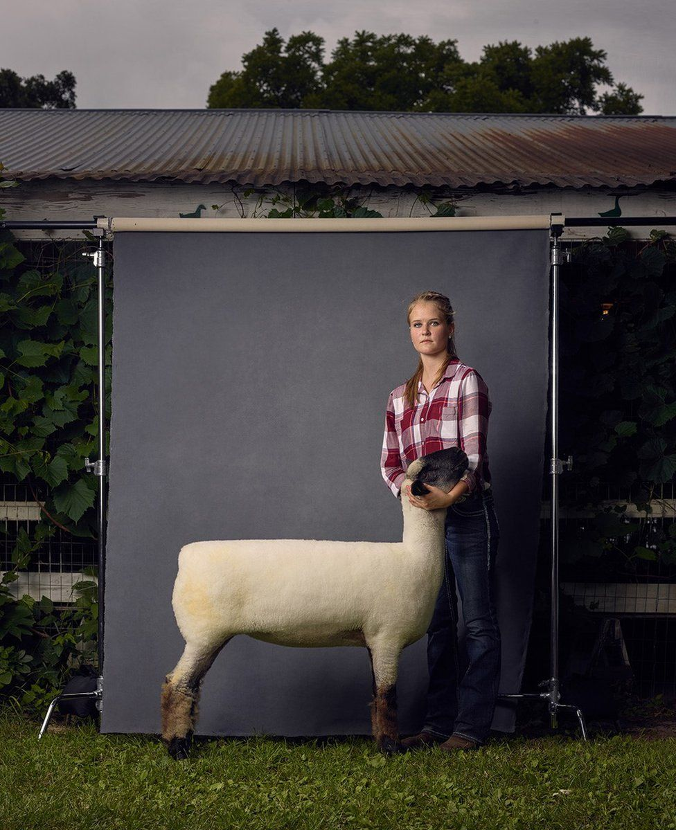 A woman and her sheep