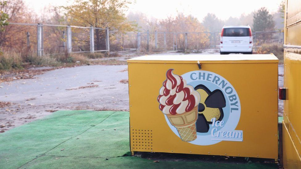 A snack and souvenier shop in the Chernobyl exclusion zone