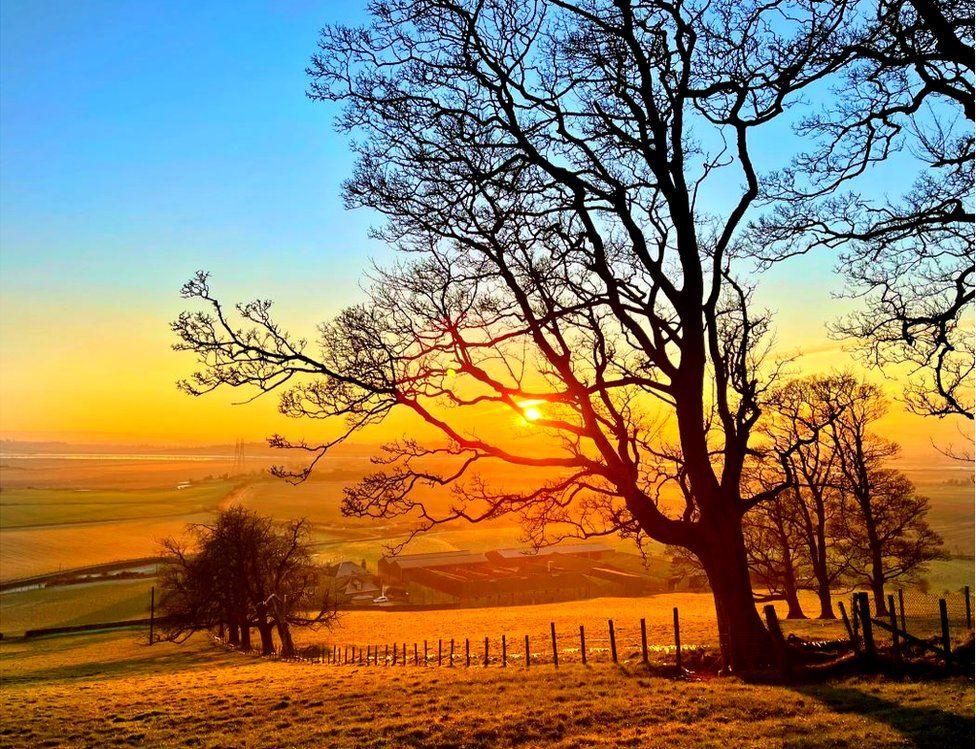Clacks sunset