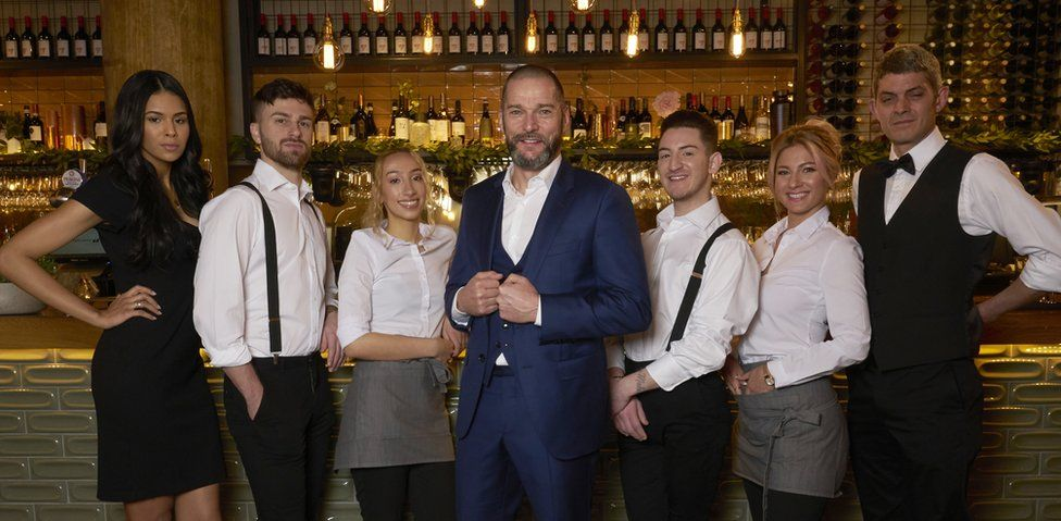 The staff in the new First Dates restaurant