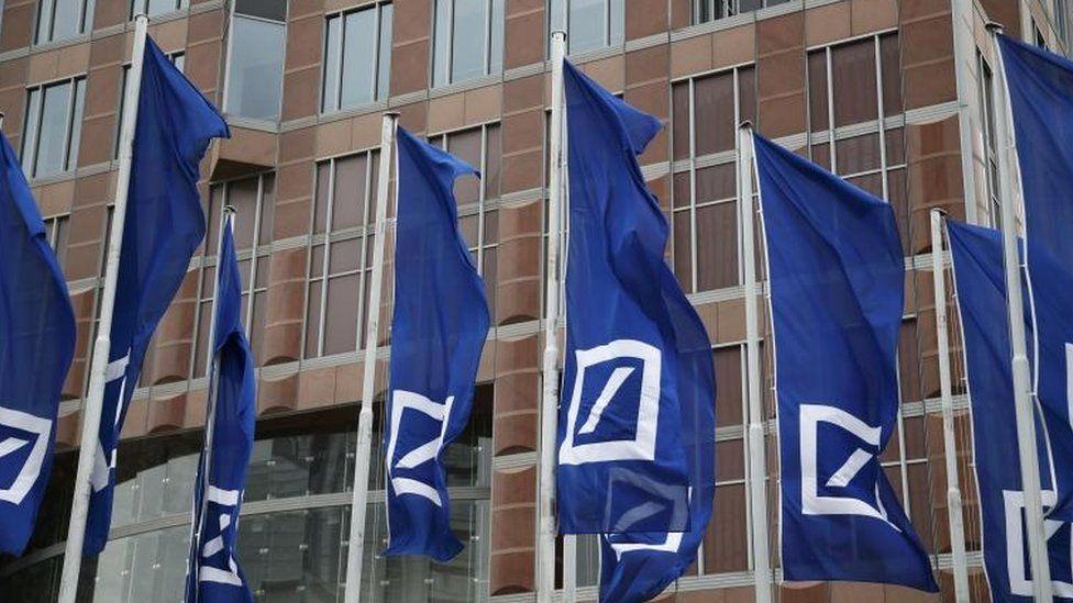 Deutsche Bank flags