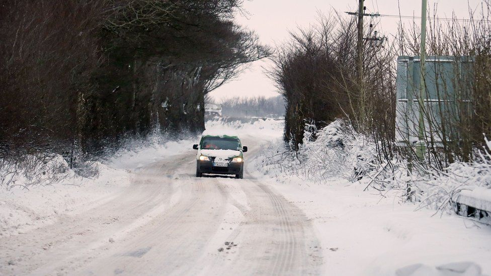 """The A30 was hit by """"significant snow"""" overnight, Devon and Cornwall Police said, with conditions """"changing rapidly from passable to impossible"""