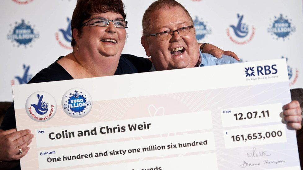 Chris and Colin Weir pose for picture after winning a record £161m in the Euromillions in July 2011