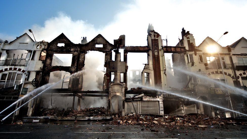 burnt out buildings after 2011 riots croydon