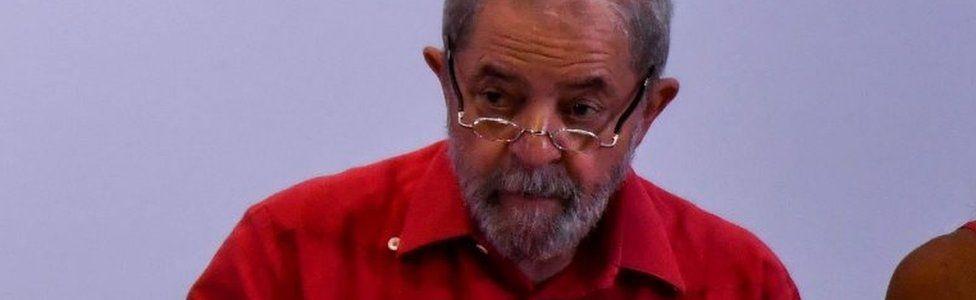 "Former Brazilian president Luiz Inacio Lula da Silva attends the debate ""What Lava Jato (Car Wash) has done to Brazil"", organized by the Workers Party (PT), in Sao Paulo, Brazil, on March 24, 2017."