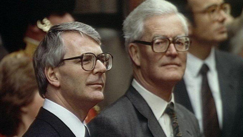 John Major and Douglas Hurd