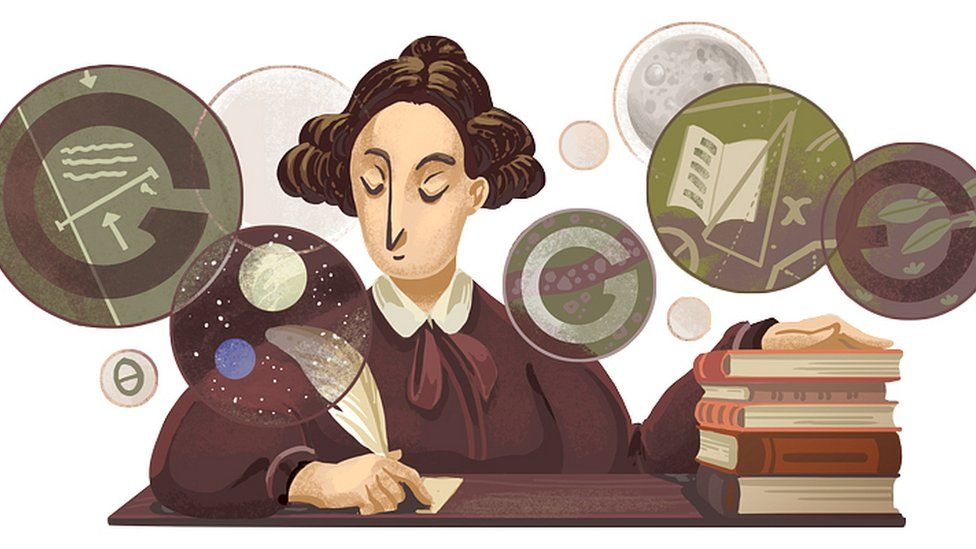 Mary Somerville doodle