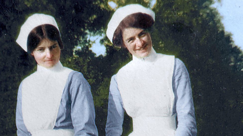 Olive Buller, with another nurse