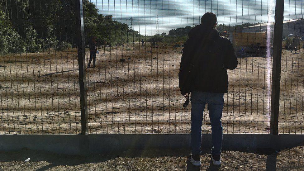 A migrant at Calais