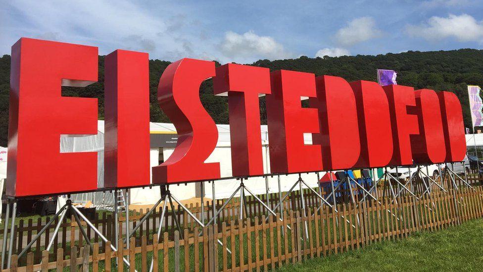 Eisteddfod sign in Llanrwst