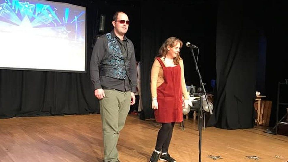 Paul and Emma at their drama show in 2019