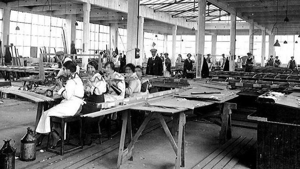 During the Second World War, workers at the Heathhall plant produced aeroplane parts