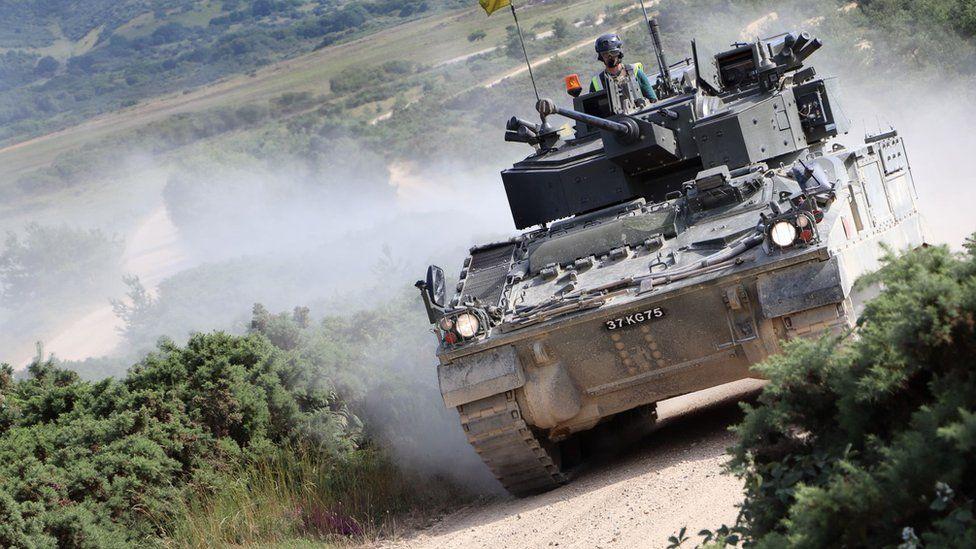 Warrior armoured vehicle