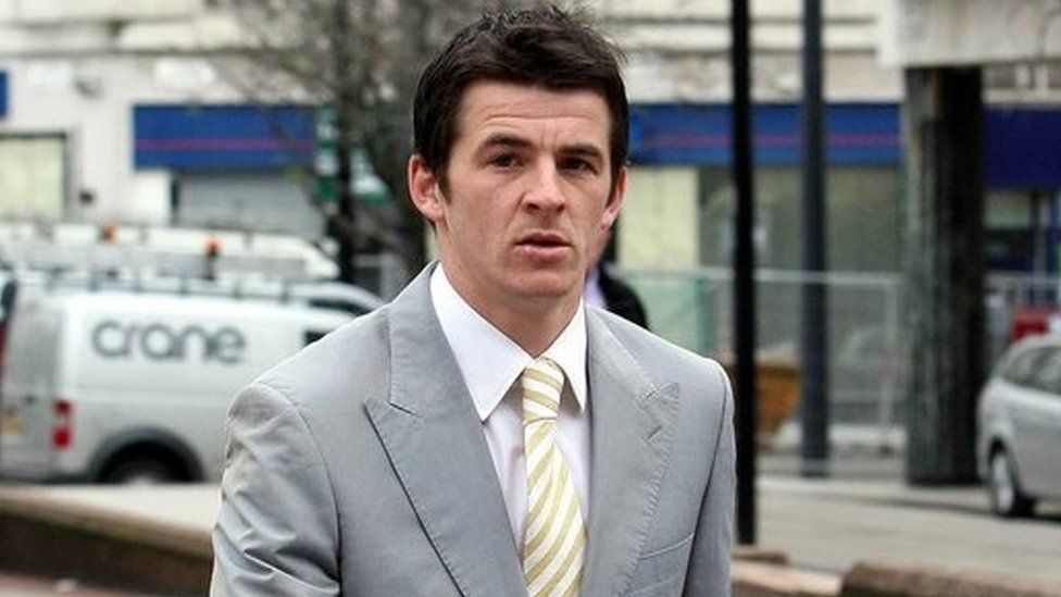 Joey Barton arriving at court in 2008