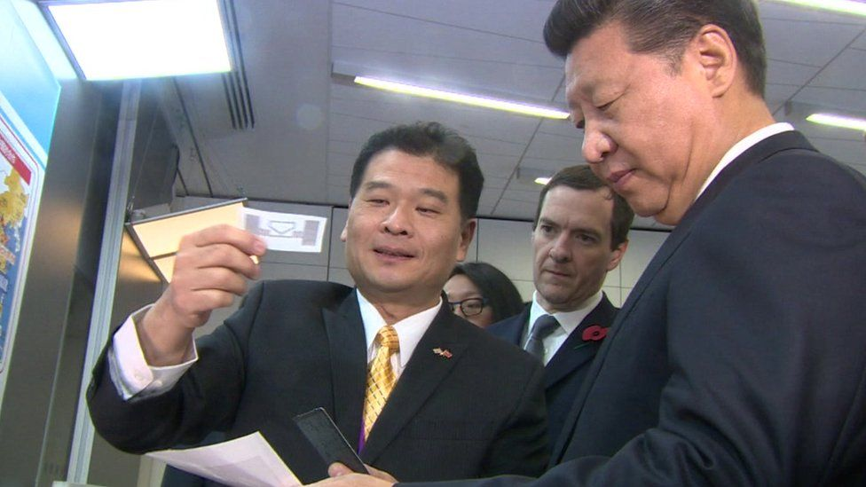 President Xi Jinping at the National Graphene Institute
