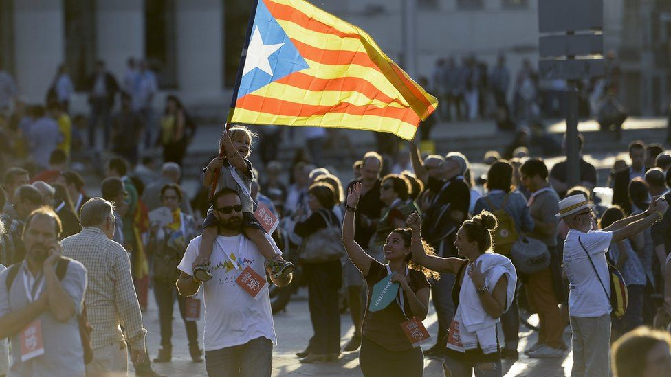 Catalan independence supporters, Barcelona
