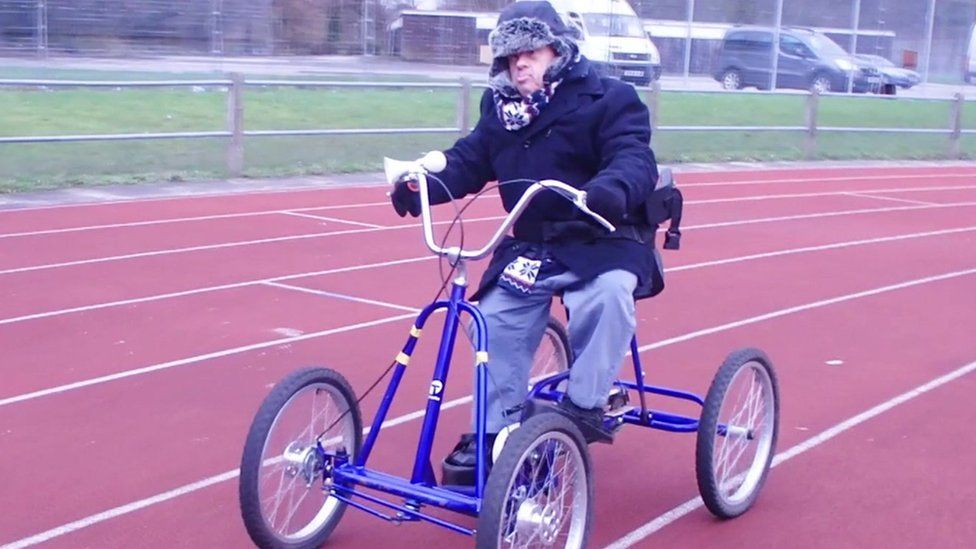 Giuseppe Ulleri on a bike