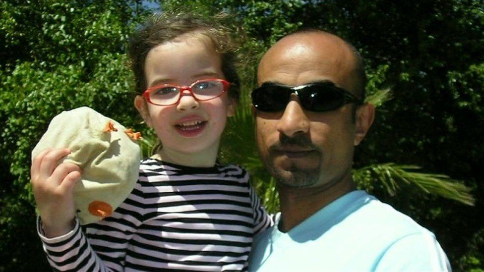 Elsa Salama and father Tamer Salama