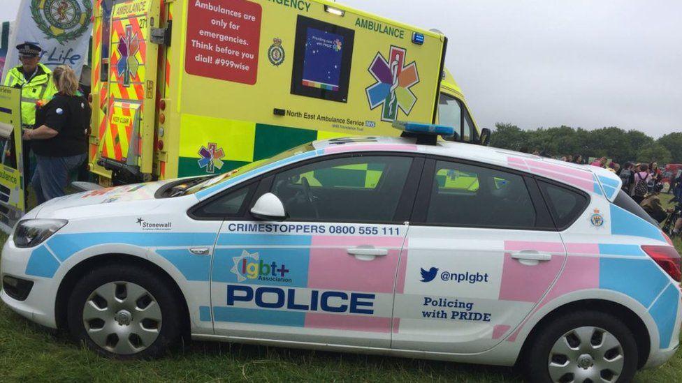 Police car at Pride