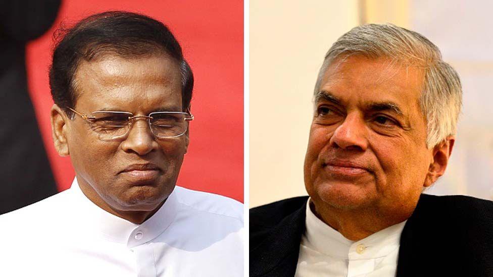Maithripala Sirisena and Ranil Wickremesinghe