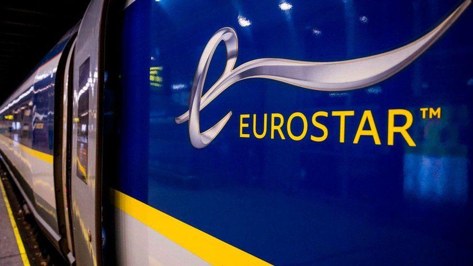 Eurostar logo on the side of a train